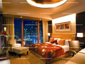 Pudong Shangri-La Hotel Bedroom Furniture, Contract Furniture Manufacturer