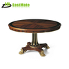 Rubber Wood Piano Lacquer Round Coffee Table