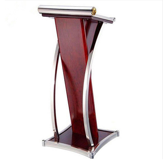China Modern Design Hotel Furniture Custom Made Curved Solid Wood Reception Desk Hotel Lobby Furniture