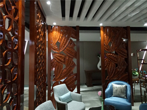 Hotel Restaurant Decorative Partition Screen / Room Wall Divider