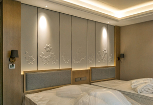 Wholesale factory price custom made wooden wall panel for hotel fixing furniture