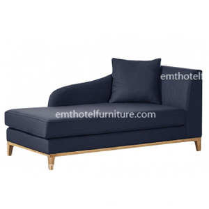 Elegant Wooden Chaise Lounge Chair Fabric Sofa Used Hotel Furniture